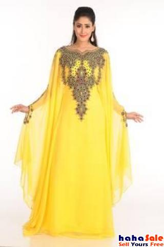 Get Great Discounts on Yellow Kaftan Shopping at Mirraw Online Store Cyberjaya Putrajaya | hahaSale