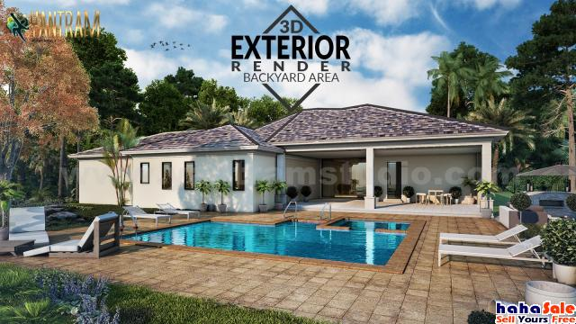 3D Architectural Rendering Residential House by architectural design studio, Houston - Texas Marang Terengganu | hahaSale