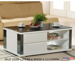 The Ambrosia Modern Contemporary Glasstop Coffee Table RM699