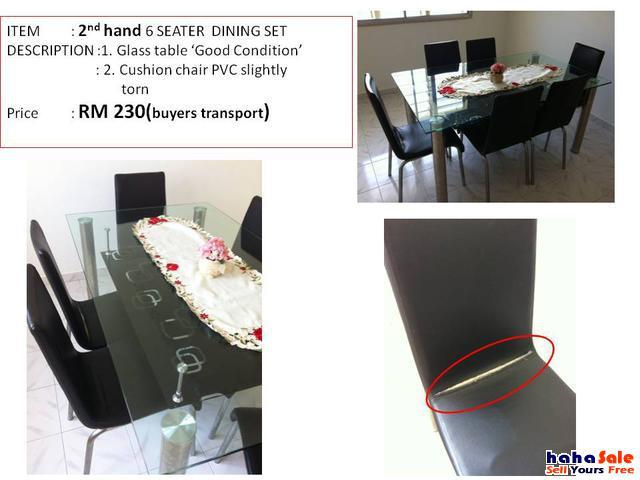 2nd Hand Tempered Glass Dining Table Johor Bahru Johor Hahasale